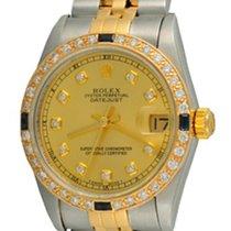 Rolex Lady-Datejust Acero 30mm Champán Sin cifras