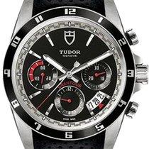 Tudor Grantour Chrono Steel 42mm Black Arabic numerals