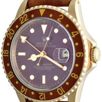 Rolex Yellow gold Automatic Bronze No numerals 41mm pre-owned GMT-Master