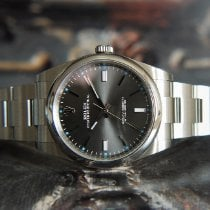 Rolex Oyster Perpetual 39 Steel 39mm Grey No numerals United Kingdom, Whitby- North Yorkshire