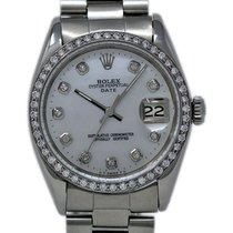Rolex Oyster Perpetual Date Сталь 34mm Перламутровый