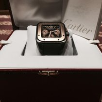Cartier Titan Automatik Schwarz Römisch 41mm neu Santos 100