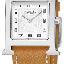 Hermès Heure H Stahl 26mm Weiß