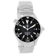 Omega Seamaster Midsize Black Dial Steel Quartz Mens Watch...