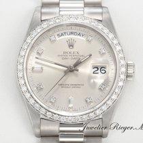 Rolex Daydate Weissgold 750 Diamanten Automatik 36mm Day Date