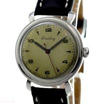 Breitling Vintage Gentleman Watch Ref-123 Stainless Steel Bj-1945