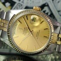 Tudor Oyster Prince Automatic Day Date Steel Gold Mens Watch