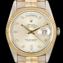 Rolex Day-Date 36 Bjelo zlato 36mm Srebro Bez brojeva
