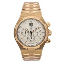 Vacheron Constantin Rose gold Automatic Silver No numerals 43mm pre-owned Overseas Chronograph