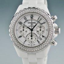 size 40 53f34 cb876 Chanel シャネル 時計 J12 ダイヤ ホワイトセラミック クロノ ...