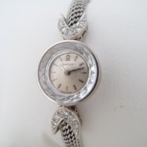 Omega Oro blanco 15mm Cuerda manual Saphette Ladymatic usados