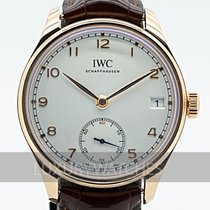 IWC Portuguese Hand-Wound Rose gold 43mm Silver
