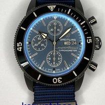 Breitling Superocean Héritage II Chronographe Сталь 44mm Синий Без цифр