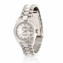 Rolex Or blanc Remontage automatique Gris Romain 26mm occasion Lady-Datejust