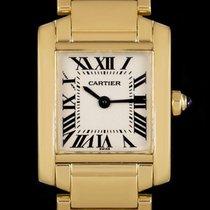 Cartier Tank Française Yellow gold 20mm Silver Roman numerals United Kingdom, London