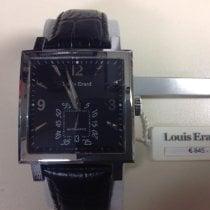 Louis Erard La Carrée Steel 34mm Black No numerals