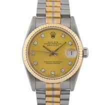 Rolex Datejust Midsize 18k Tridor with Diamond Dial, Ref: 68279
