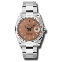 Rolex Oyster Perpetual Date Steel 34mm Pink