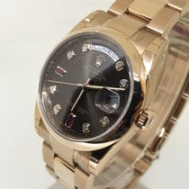 Rolex Day-Date Oyster Perpetual Ruby-Diamond Dial - 118205