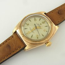Rolex Oyster Perpetual Bubble Back Ref 3725 Rosegold Pink Gold...