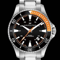 Hamilton H82305131 Steel Khaki Navy Scuba 40mm new