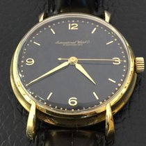 IWC Vintage Classic Lugs cal.89 Black Dial Rare 18k Yellow gold