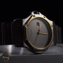 Cartier Santos Octagon 18 K Gold Steel Date Grey Dial