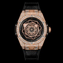 Hublot Big Bang Sang Bleu King Gold Pavé