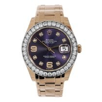 Rolex Rose gold Automatic Purple 39mm new Pearlmaster