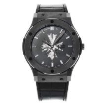 Hublot Ceramic Manual winding Black No numerals 45mm new Classic Fusion Ultra-Thin