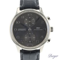 IWC Portuguese Chronograph tweedehands 40.9mm Witgoud