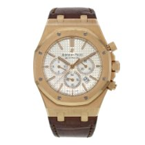 Audemars Piguet Royal Oak Chronograph Rose gold 41mm Silver No numerals United States of America, New York, NYC