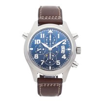 IWC Pilot Double Chronograph Steel 44mm Blue Arabic numerals