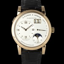 A. Lange & Söhne Red gold Manual winding Silver 39mm pre-owned Lange 1