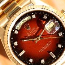 Rolex Day-Date 36 Gelbgold 36mm Rot Keine Ziffern Deutschland, Rosenheim