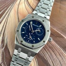 Audemars Piguet Royal Oak Dual Time Steel 36mm Blue No numerals