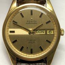 Zenith Captain Or jaune 35mm Or Sans chiffres