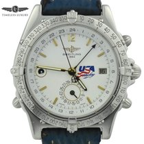 Breitling Duograph Stahl 38mm Weiß
