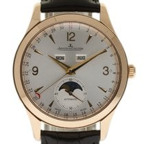 Jaeger-LeCoultre Master Calendar pre-owned 39mm Champagne Moon phase Date Month Leather