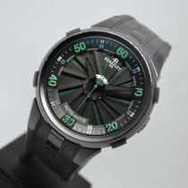 Perrelet Turbine XL Steel 48mm Green Arabic numerals