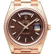 Ρολεξ (Rolex) Rolex Day-Date 40 18 kt Everose-Gold 228235 Choco