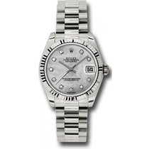 Rolex President 178279 Midsize 18K White Gold New Style Heavy...