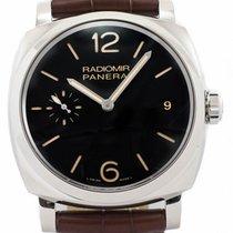 Panerai Radiomir 1940 Black Dial Black Leather Men Brown...