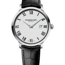 Raymond Weil Toccata Black Leather Strap Men's Watch 5488-STC-...