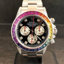 Rolex Daytona Rainbow in Steel Aftermarket
