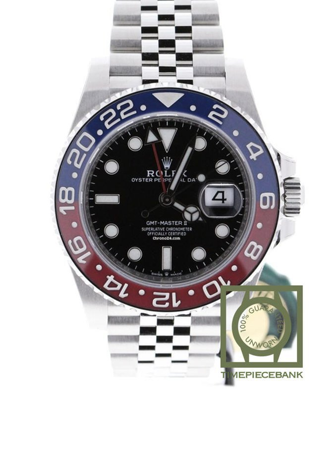 Rolex GMT,Master II Pepsi Stainless Steel BLRO Jubilee 126710