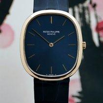 Patek Philippe 30,5mm Quartz 1980 occasion Golden Ellipse Bleu