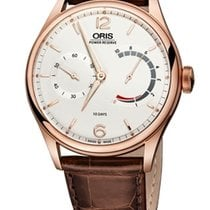 Oris new Manual winding Small seconds Luminous hands Power Reserve Display Limited Edition 43mm Rose gold Sapphire crystal