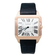 Cartier Santos Dumont pre-owned 44mm Grey Leather