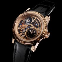Louis Moinet Tempograph Rose gold 44mm No numerals